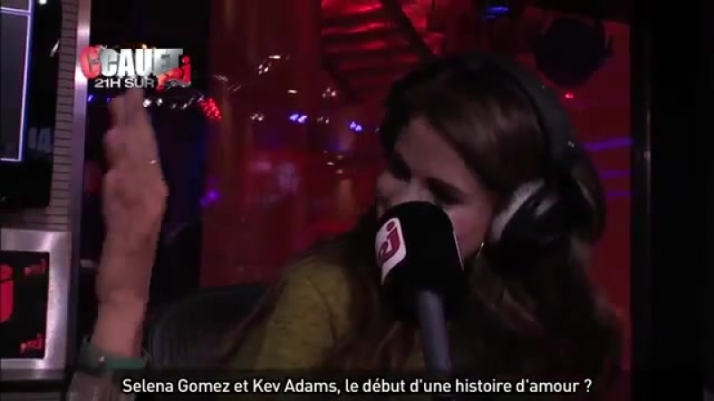 (HD) Kev Adams, a french comedian, hitting on Selena Gomez at the french radio station NRJ.
