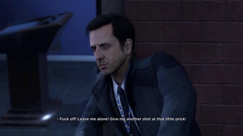 Detroit: Become Human - Hank punches Perkins cutscene