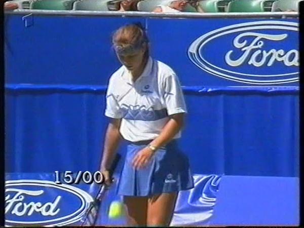 Anke Huber vs Barbara Schett ; Monica Seles vs Iva Majoli AUSTRALIAN OPEN 1996