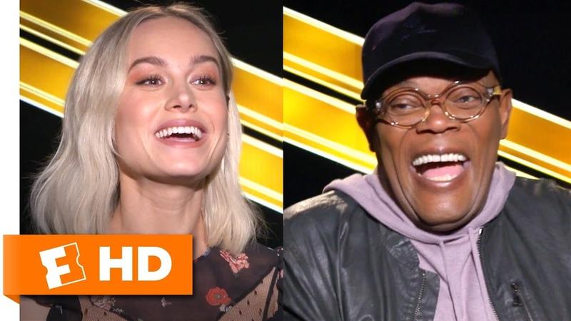 Brie Larson Samuel L Jackson Love Faerie Tales and Karate Captain Marvel Interview