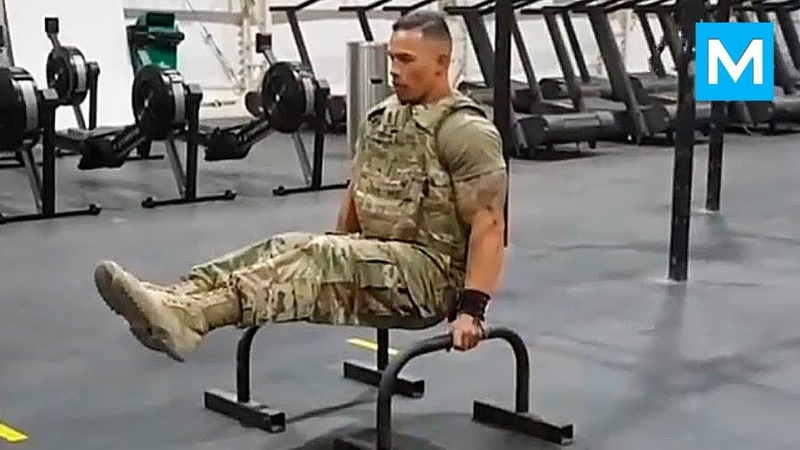 STRONGEST Soldier in Army Gym - Diamond Ott   Muscle Madness