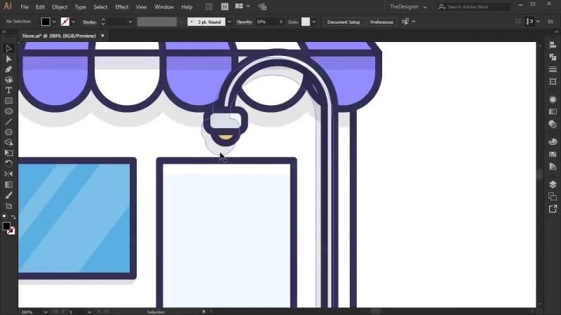 Illustrator Tutorial Design a Store Icon