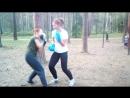 Тренировка по Ушу в Сосновке. Отработка в парах комбинаций ударов и защит