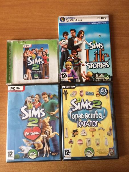 Диски с игрой The Sims 2