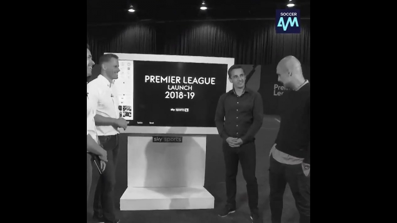 The moment Pep Guardiola called Gary Neville