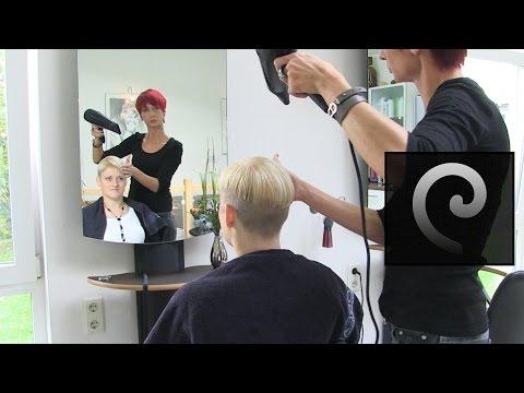 Extreme bowl cut womenwith shaved nape | blonde pixie undercut buzzcut haircut short bob