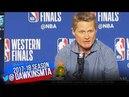 Steve Kerr Postgame Interview Warriors-Rockets Game 6 2018 WCF FreeDawkins