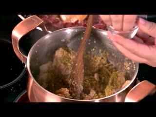 Домашняя кухня. Ленивое сациви и багет