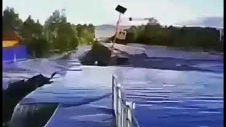 Наводнение в Чите Мост от Смоленки к Угдану