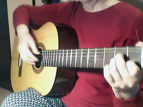 Фрагмент урока гитарные приемы для украшения аккомпанемента