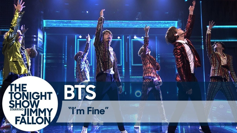 BTS Performs I'm Fine on The Tonight Show