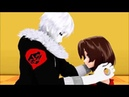 Mmd x undertale echotale gaster sans x frisk *requested*