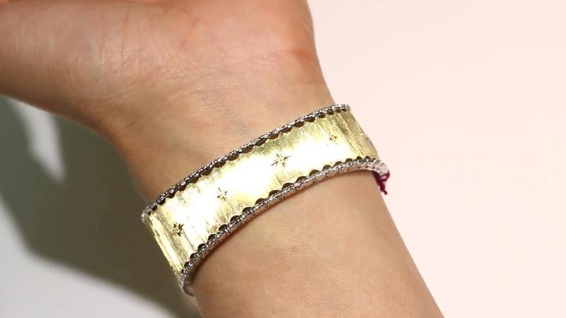 Exclusive Emerald And Diamond Bangle Bracelet 18K.mp4