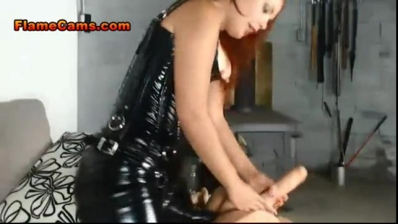 Femdom Latex Corset Strapon and Pegging latex porn girl fetish латекс порно