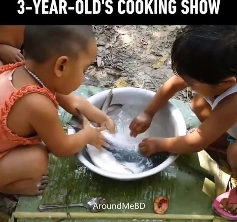 Wow, 3'yr old cook