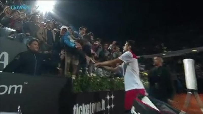 This racquet is in perfect working order! - - Bellissimo, Nole! ibi18