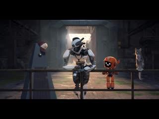 Любовь, Смерть и Роботы 1-ый сезон 2-ая серия - концовка серии про трёх роботов