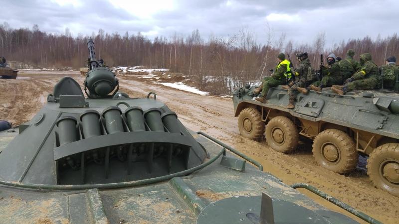 Штурм, при поддержке бронетехники, передвижение БТР-80 | depsurv