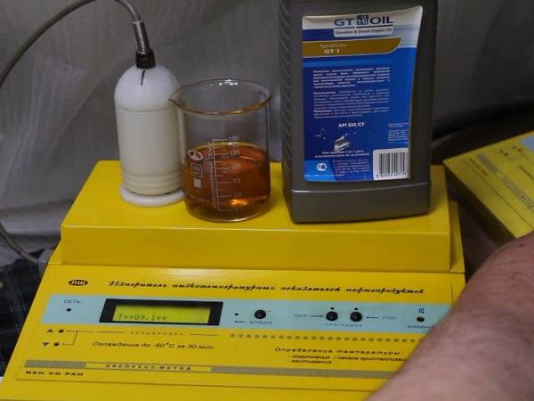 Масло GT OIL 0W-40 SM/CF проверка CCS при... -35гр.