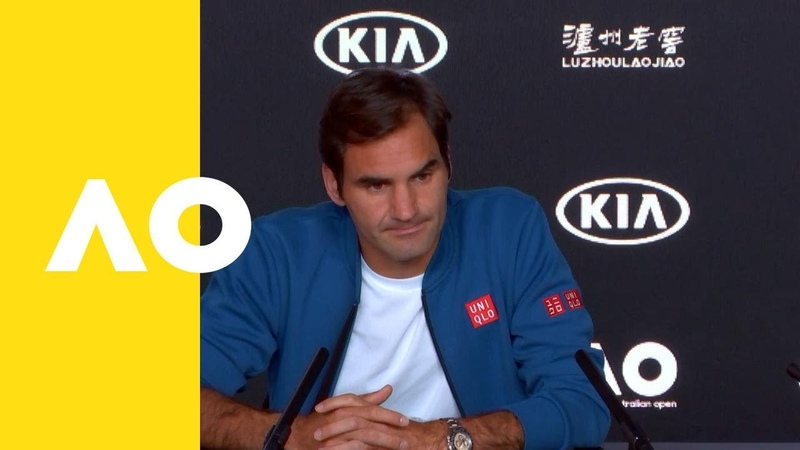 Roger Federer pre event press conference Australian Open 2019