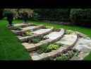 🔴 Ideas for garden and backyard: slope and retaining walls in the landscape design. Part 12