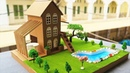 How To Make A Beautiful Mansion House From Cardboard DreamHouse Project For Kids