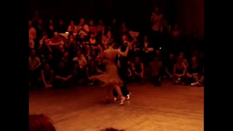 "Sebastian Arce and Mariana Montes, dancing milonga ""Sacale punta"" at Tangomagia"