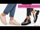 MODA en ZAPATOS de Vestir con CORDONES | Tendencia Calzado Plano Mujer Otoño Invierno 2018 2019