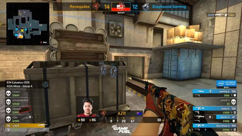 AZR взял клатч 1v4 против Grayhound @ Asia Minor IEM Katowice 19