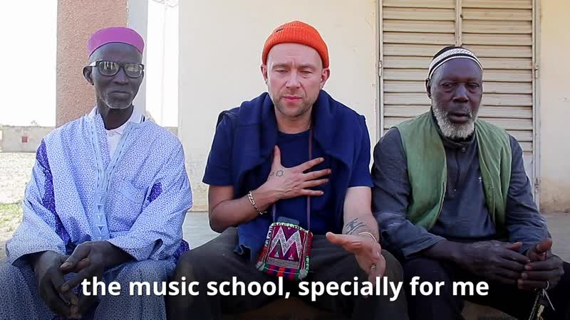 Damon Albarn visits our school in Kirina, Mali