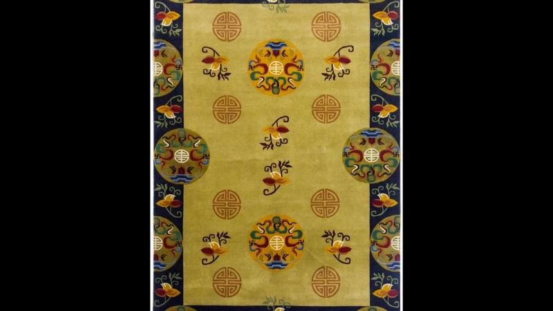 Fine Rare Tibetan Woolen Rugs handmade silk carpet hand woven wool rug