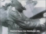 The Red Baron, Manfred von Richthofen, getting in his plane and taking off.