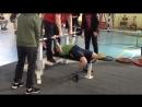 Попова Юля 32.5 кг 1 подход вес кат до 52 кг. возраст 10 лет