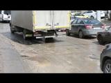 Убитые дороги на улице Рахова