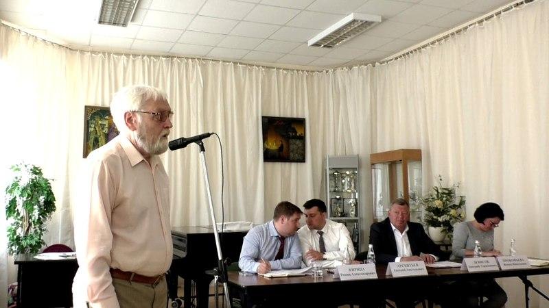 Валерий Аркадьевич Оголяр на презентации кандидатов в ОП Королёва