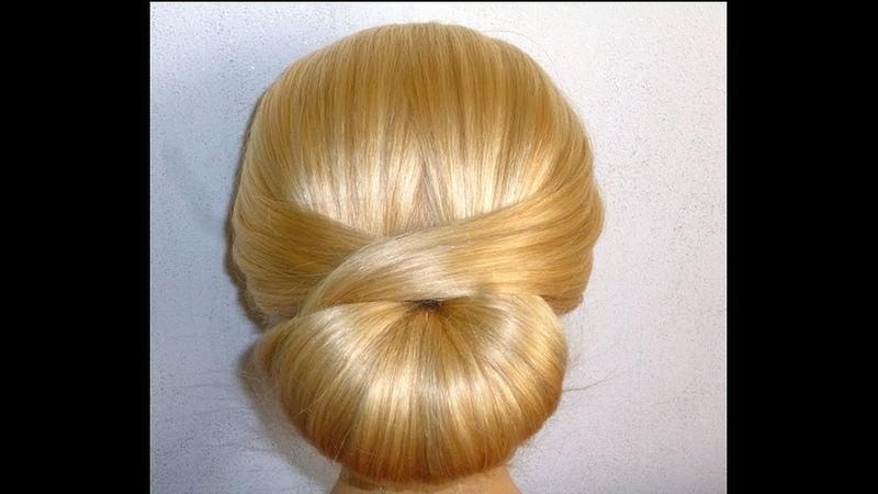 Шикарно быстро просто Причёска для средних длинных волос самой себе за 5 минут