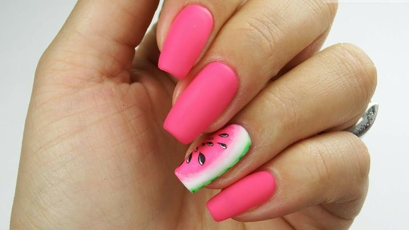 Easy watermelon nail art / Arbuzowo 🍉❤️/ Bluesky Polska