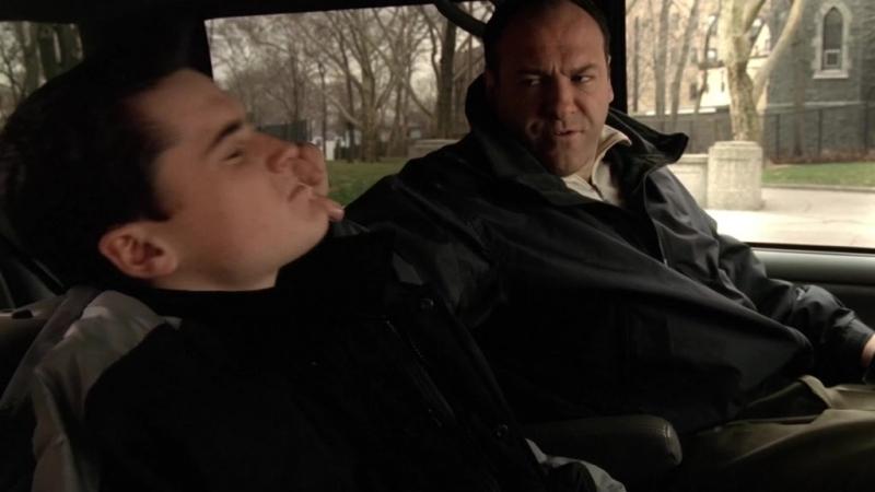 (Клан Сопрано S04E07_04) Тони учит Эй Джея жизни