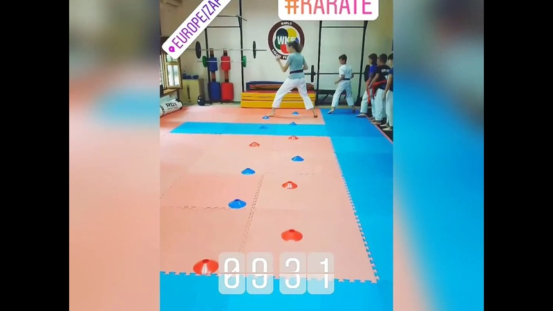Суровые будни каратэки/Тренировка кумитэ/Kumite training/KARATE CLUB SKIF