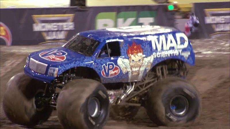 First ever Monster Jam Truck front flip Lee O'Donnell at Monster Jam World Finals XVIII FULL RUN