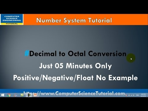 3 Decimal to Octal Conversion