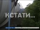 100 тонный вагон цистерна сошел с рельсов в Нижнем Новгороде
