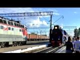 В Коношу прибыл Ретро-поезд. 2018г.