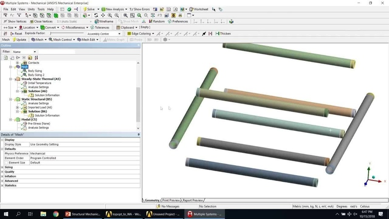 ANSYS Back-to-School: Design and Topology Optimization with FEA Simulation