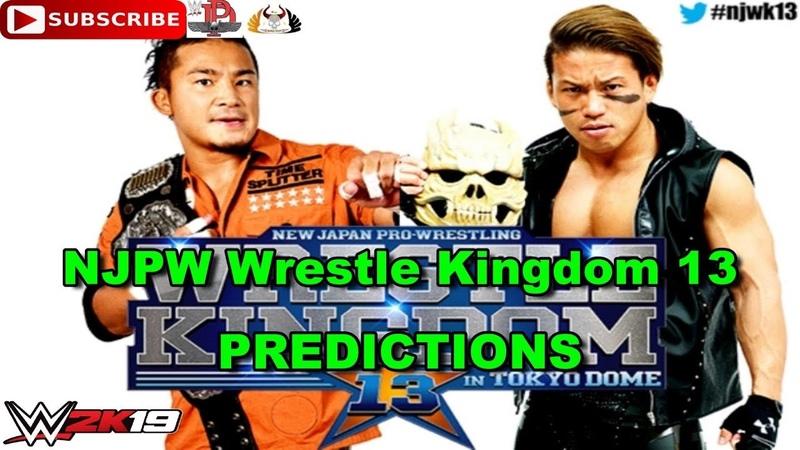 NJPW Wrestle Kingdom 13 IWGP Junior Heavyweight Championship KUSHIDA vs Taiji Ishimori WWE 2K19