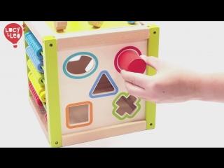 Бизиборд универсальный куб lucy&leo