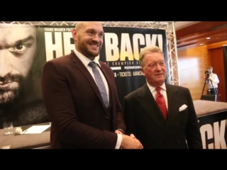HE'S BACK! - TYSON FURY SIGNS PROMOTIONAL DEAL WITH FRANK WARREN - RETURNS JUNE 9 IN MANCHESTER