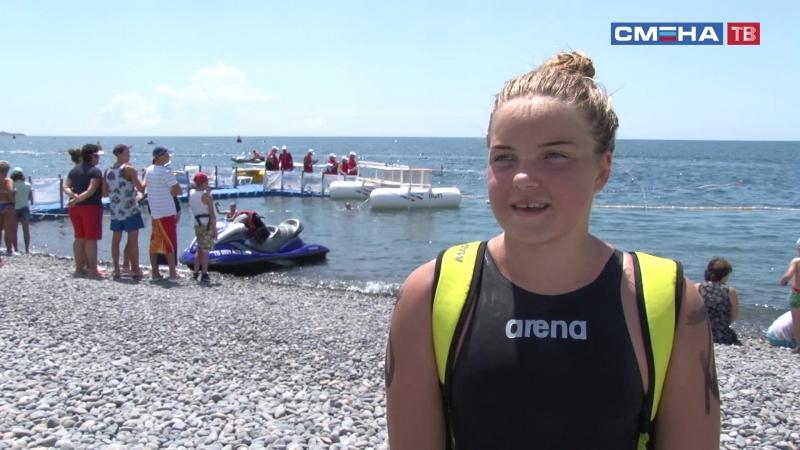 Интервью победительницы в категории юниоры в дистанции 7,5 км первенства России по плаванию на открытой воде Яны Карцевой