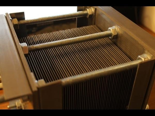 Электролизёр на 50 пластин. Часть I - реактор.