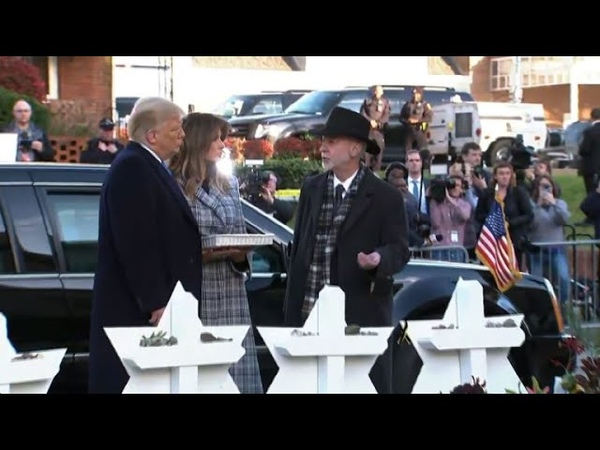 Donald et Melania Trump arrivent à la synagogue de Pittsburgh